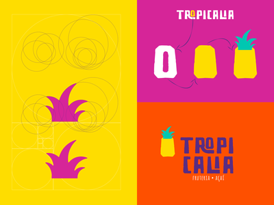 Logo Grid Pineapple Crown- Tropicalia branding identity design logo design logotype brand identity logo inspirations brand brand design logodesign grid logo