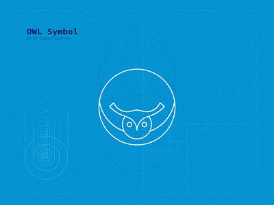 Owl Symbol - Grid Construction branding identity logo inspirations logo design grid design grid logo logotype logodesign brand