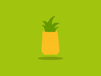 The Pineapple illustration art illustration design design pineapple fruity fruit illustration fruits vector vectors vector illustration illustration