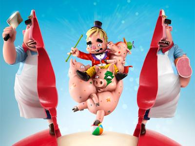 Babybel Butcher Illustration