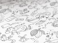 Recipe Pattern Scribble