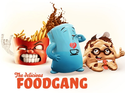 Foodgang coffee cookies fries coffeecookies foodgang creeze character