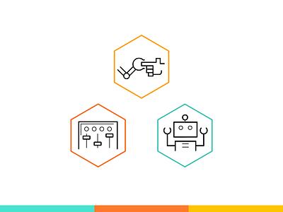 Semio - Iconset design branding icon logo ui artificialintelligence ai robotics icon set webdesign kluge