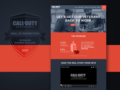Call of Duty - Endowment / Website army ong support veterans gaming branding kluge
