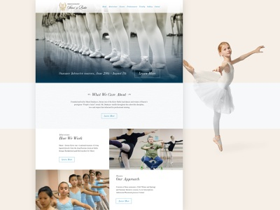 Marat Daukayev / Ballet School website design dance ballet ui webdesign kluge
