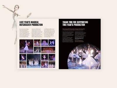 Ballet Booklet dance nutcracker ballet print design branding kluge