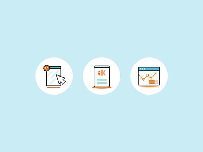 Kaleo - Illustrative iconset webdesign search design digital illustration icons branding kluge