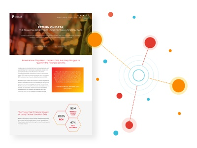 Factual - Web Layouts branding geolocation location data ai design ux ui kluge