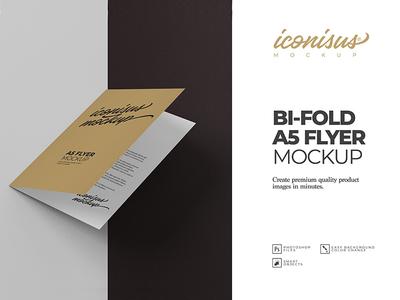 Bi-Fold A5 Flyer Mock-Up Template