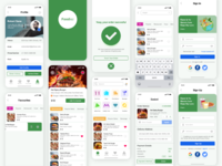 Food App Design (full page)