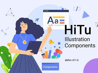 Hitu Illustration Components banner community figma ui design component illustration hitu