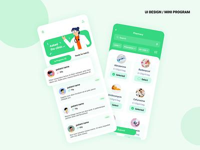 Medical health health figma illustration mobile