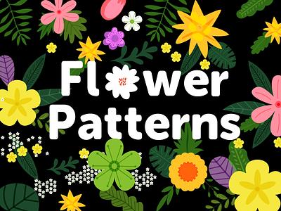 Flower Patterns vector variant shape pattern leaves flower component community illustration figma