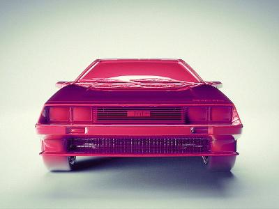 Pink DeLorean delorean dmc car back to the future bttf 3d