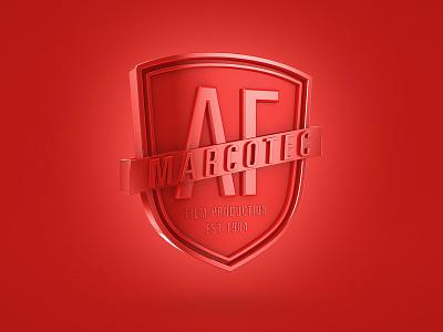Marcotec 3D Logo marcotec logo 3d red crest