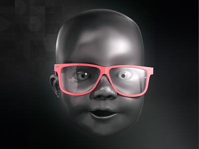 Lilian 3d baby sculpting rayban head