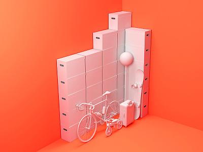 Self Storage 3D Visualization visualization architecture storage 3d