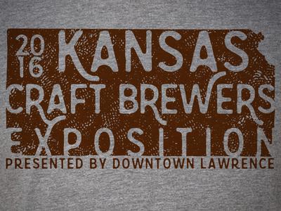 Kansas Craft Brewers Expo 2016 shirt