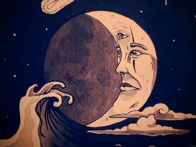 Drawlloween! Day 2: Moon