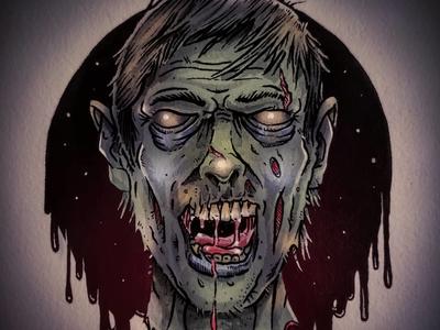 Drawlloween 2018! Day 3: Zombie