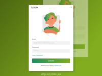 login page ui desain | agricultural technology