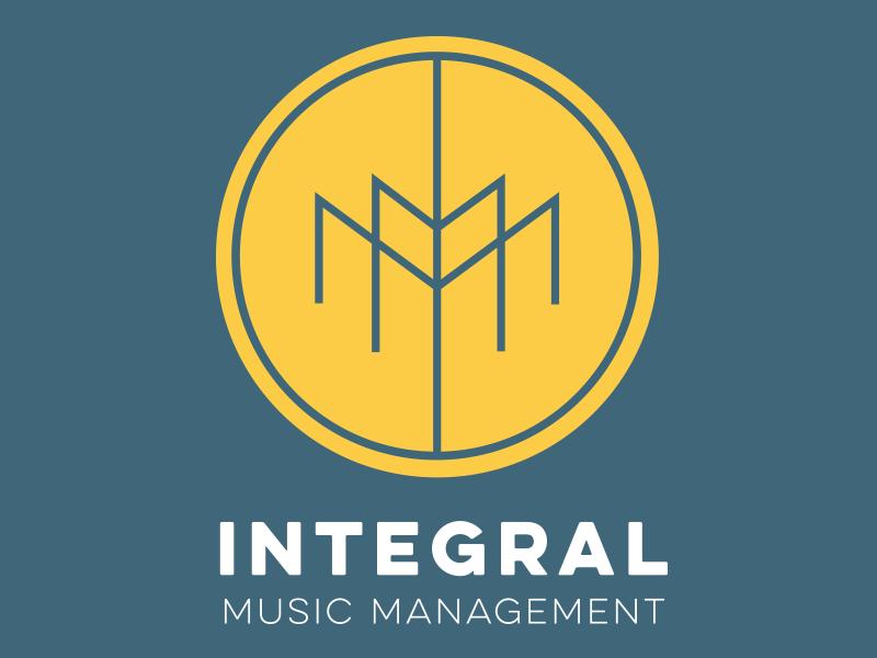 Intergral mark round simple identity logo music logo