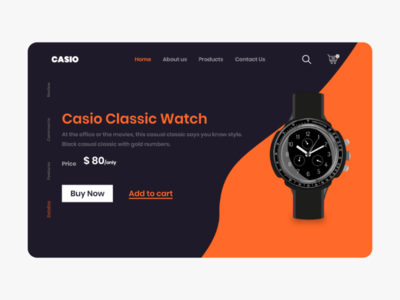 Casio classic watch Web UI