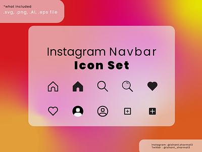 Instagram Icon Set icons instagram