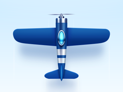 Airplane airplane fly bule icon plane ps