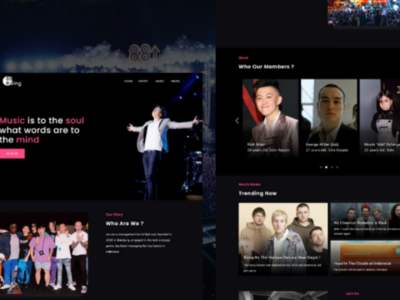 Music Agency Landing Page dark designer web design profile agency ui ux ui design landing page music