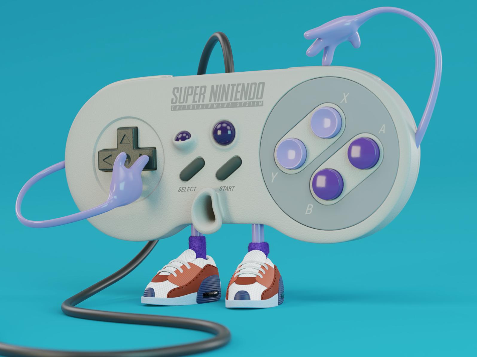 Super Nintendo blender3d 3d ilustration 3d modeling render blender design illustration character design 3d