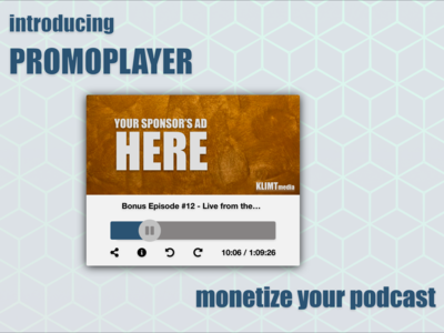 Promo-player - A podcast player with configurable messages web design ux