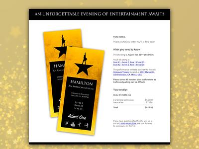 Design for #DailyUI challenge day 017 - email receipt web design branding