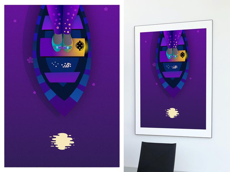 Her night art for print art vector illustration digital painting digitalart