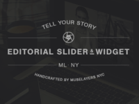 Editorial Slider & Widget Badge