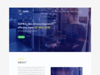 GDPR - Landing Page Design