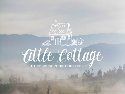 Little Cottage Hand Drawn Logo branding illustration graphicdesign graphic vector calligraphy logo life slow house minimal minimalist hand drawn logotype logos logo design cute cottage logo