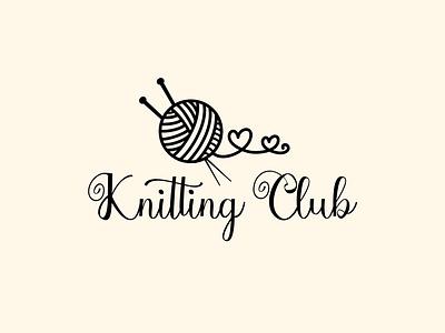 Knitting Club concept logo logo design design logodesign decor branding logotype logo graphicdesign graphic vector