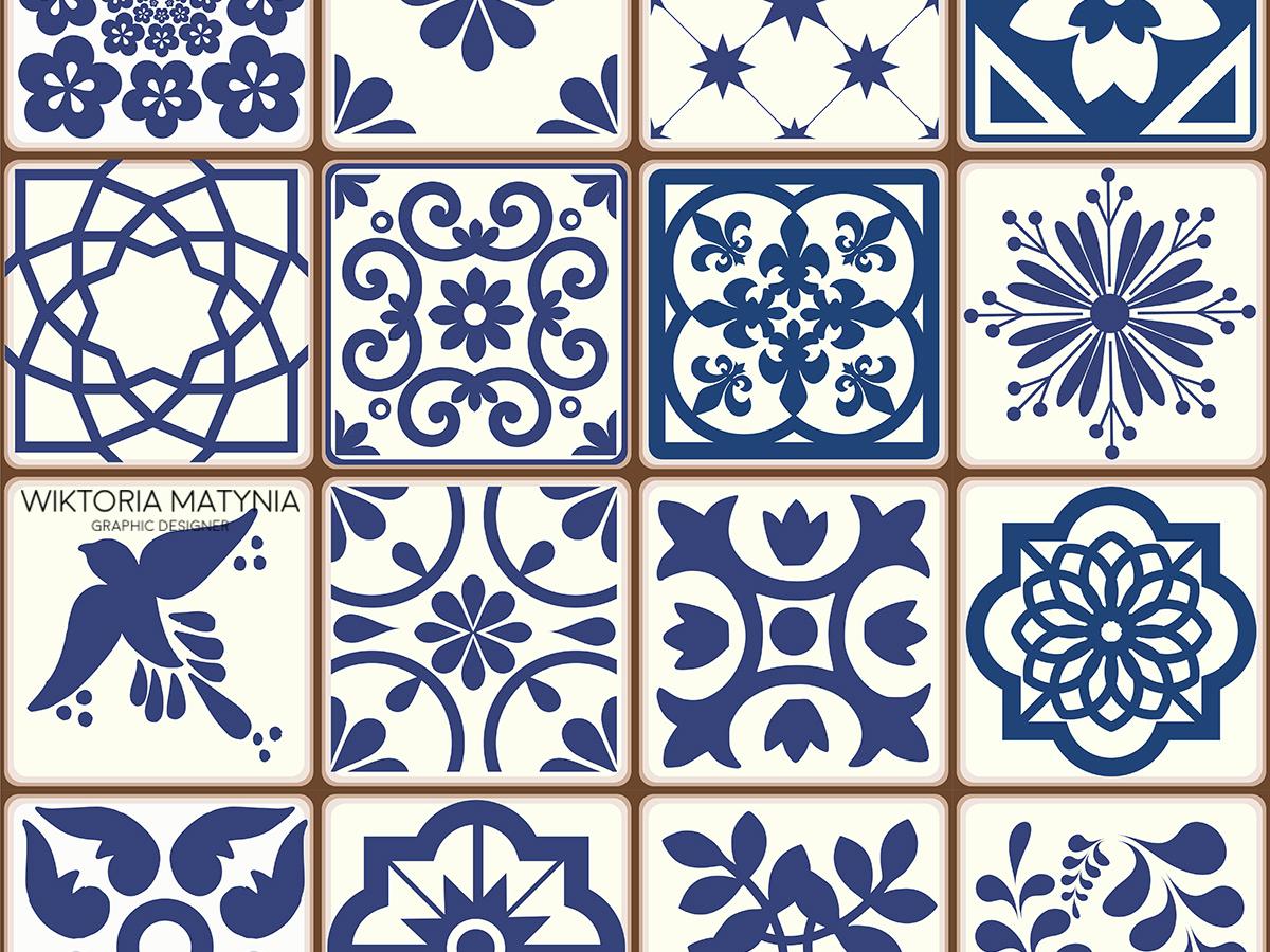 Azulejos Portuguese Tiles patterns souvenir pattern traditional portuguese tile portugal azulejos azulejo