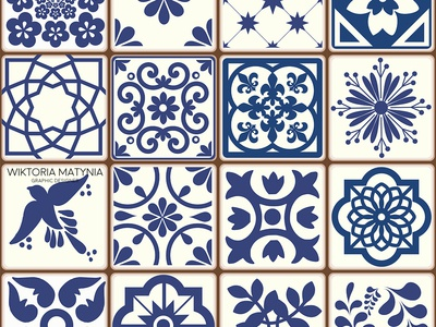 Azulejos Portuguese Tiles patterns
