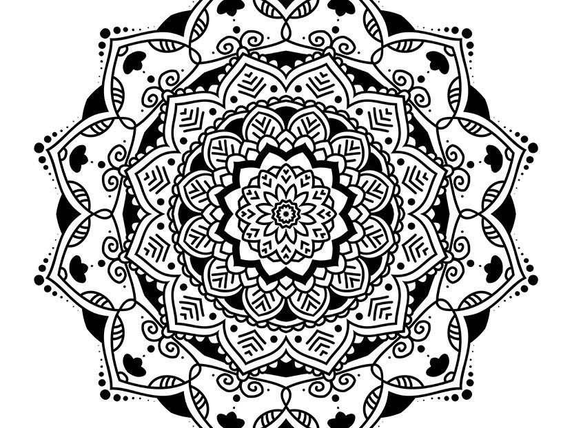 Mandalas design - many different mandalas vector design element decorative wellness calm meditation zen pattern oriental indian asian mandala