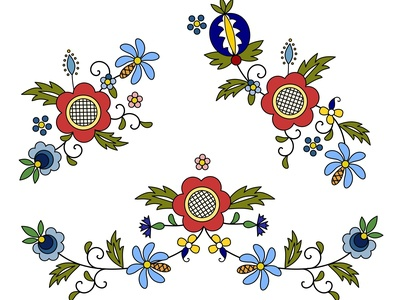 Kashubian, Polish folk decorations and patterns
