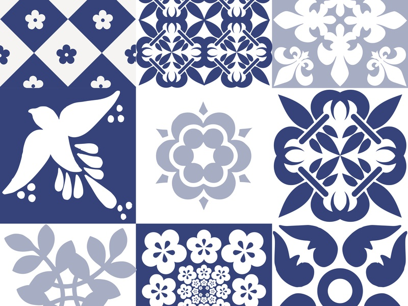 Beautiful traditional Portuguese Azulejos patterns surface pattern design surface design surface pattern surfacedesign surface graphicdesign tiles portugues azulejos azulejo tile portuguese portugal traditional souvenir seamless graphic design vector pattern