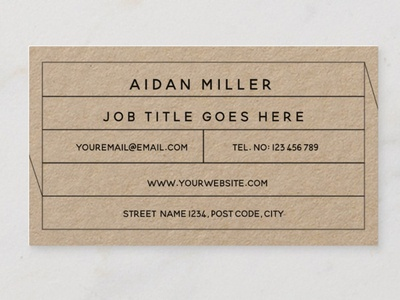 Simple, contemporary, minimalist business card template design