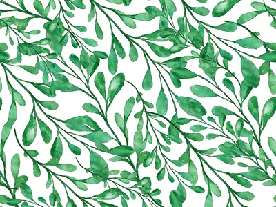 Seamless watercolor branches pattern