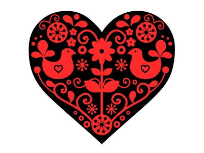 Scandinavian Folk Heart