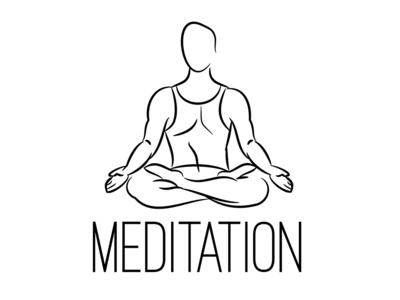 Meditation Logotype simple body illustration
