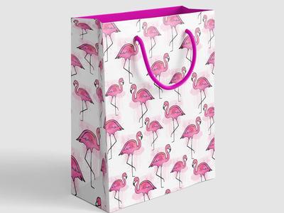 Pink flamingo summer pattern