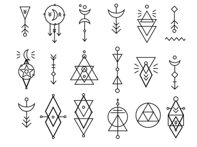 Hipster Geometric Sacred Shapes Set