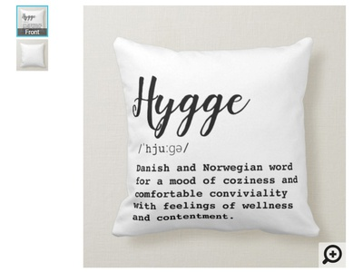 Hygge Pillow for cosy vibe in your home